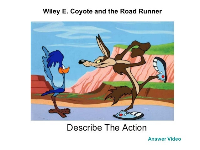 Describe The Action Answer Video Wiley E. Coyote and the Road Runner