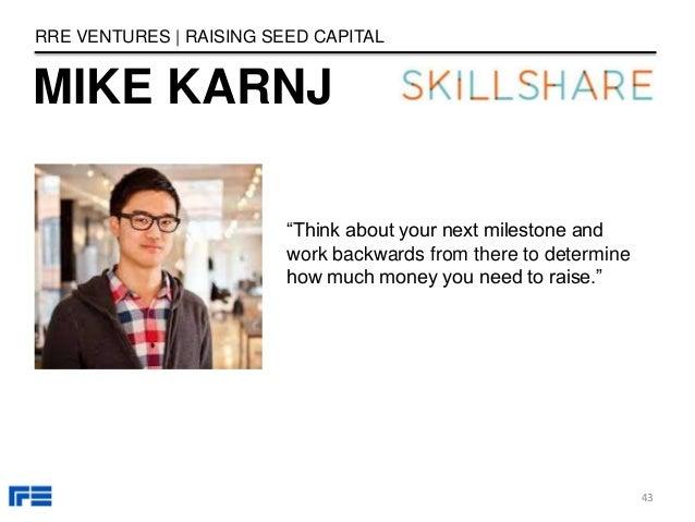 how to raise seed capital