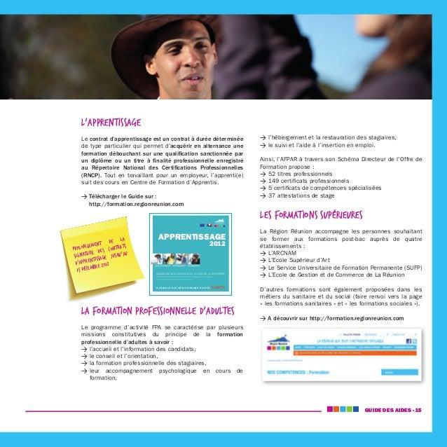 Guide Des Aides A La Formation Region Reunion