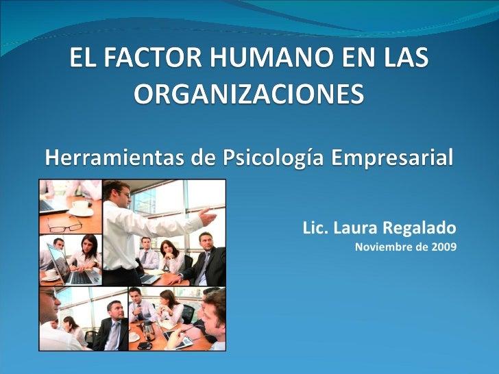 Lic. Laura Regalado Noviembre de 2009