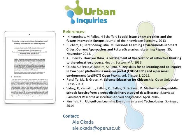 References: • N Komninos, M Pallot, H Schaffers Special issue on smart cities and the future internet in Europe. Journal o...