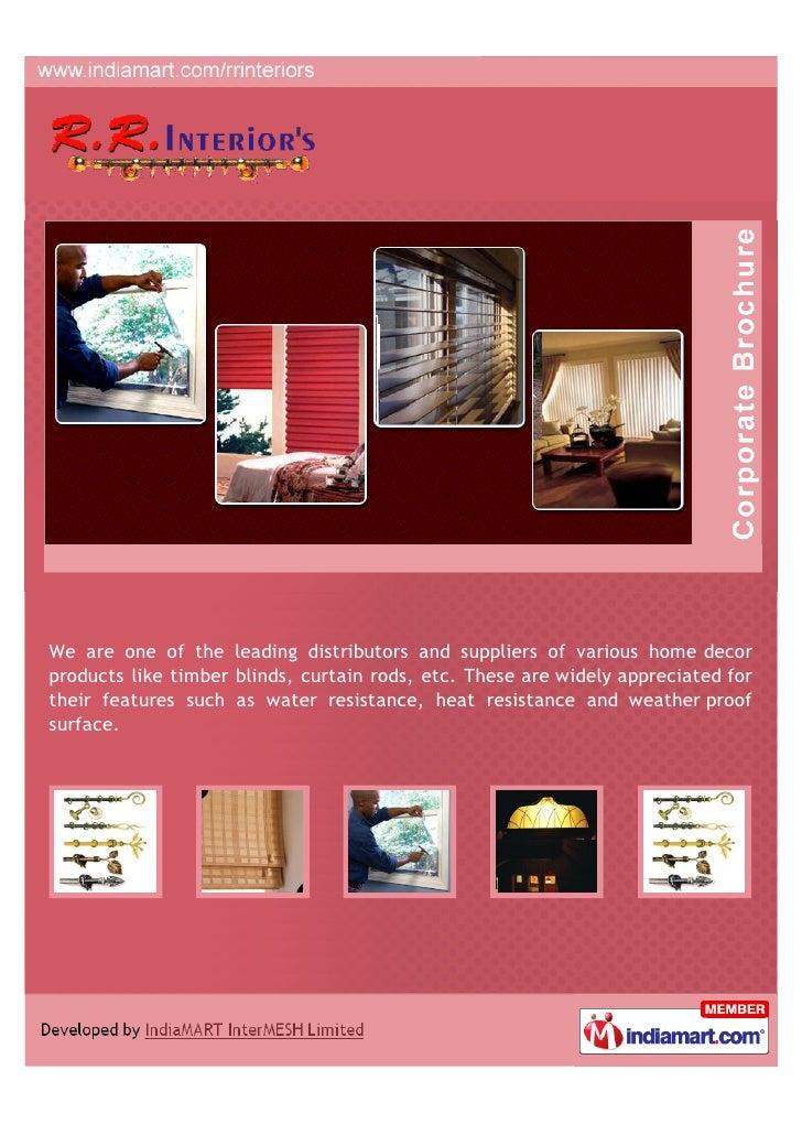 R R Interiors Gurgaon Brass Curtain Rods