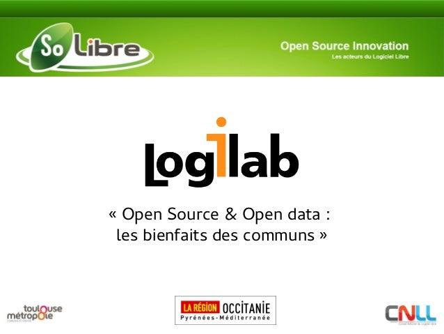 «Open Source & Open data: les bienfaits des communs»
