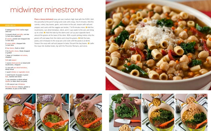 midwinter minestrone                                        Place a heavy-bottomed soup pot over medium-high heat with the...