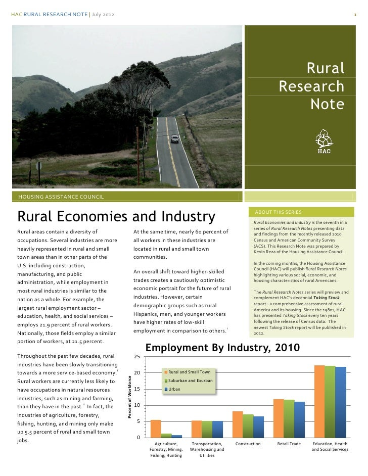 HAC RURAL RESEARCH NOTE | July 2012                                                                                       ...