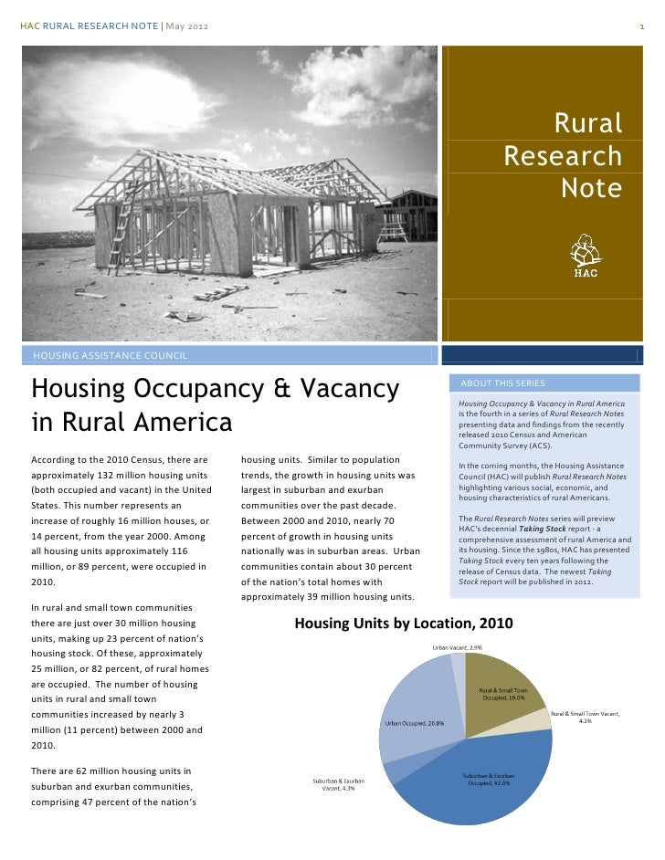 HAC RURAL RESEARCH NOTE | May 2012                                                                                        ...