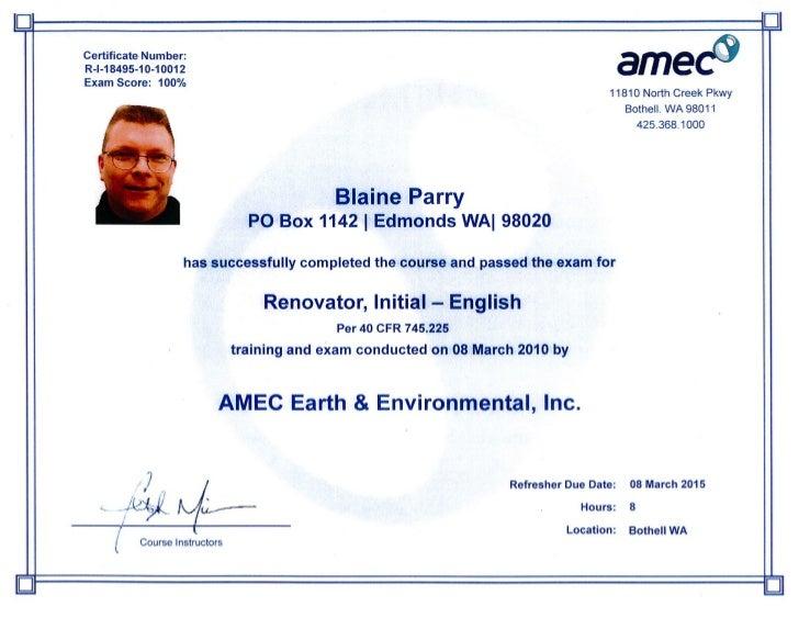 RRP Certification