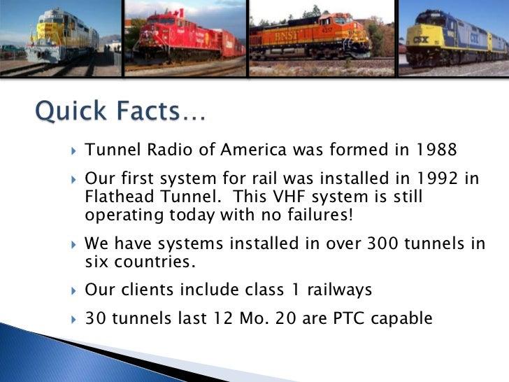 Tunnel Radio Railroad Solutions