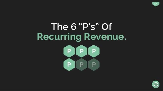 """113 The 6 """"P's"""" Of Recurring Revenue. P P P P P P"""