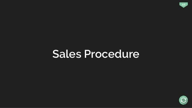 118 Sales Procedure