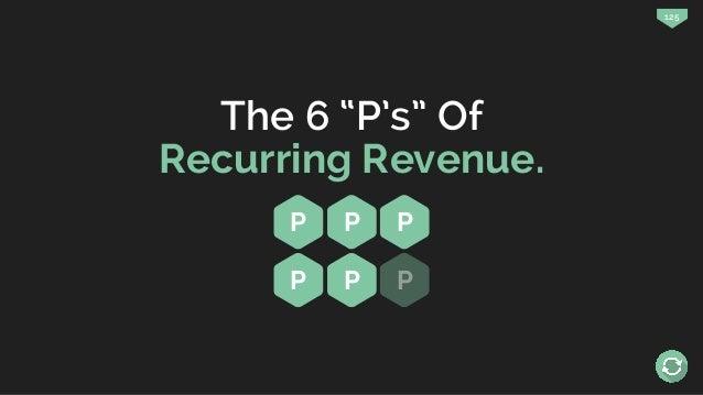 """125 The 6 """"P's"""" Of Recurring Revenue. P P P P P P"""