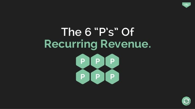 """184 The 6 """"P's"""" Of Recurring Revenue. P P P P P P"""