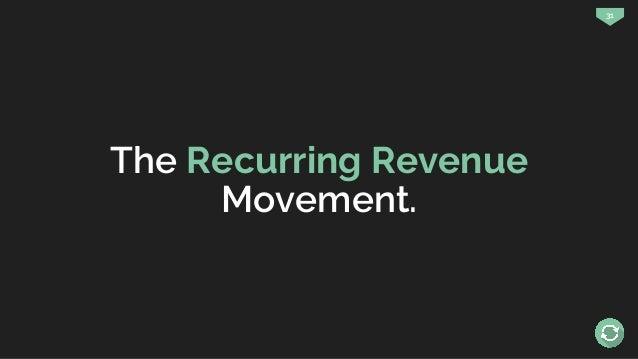 31 The Recurring Revenue Movement.