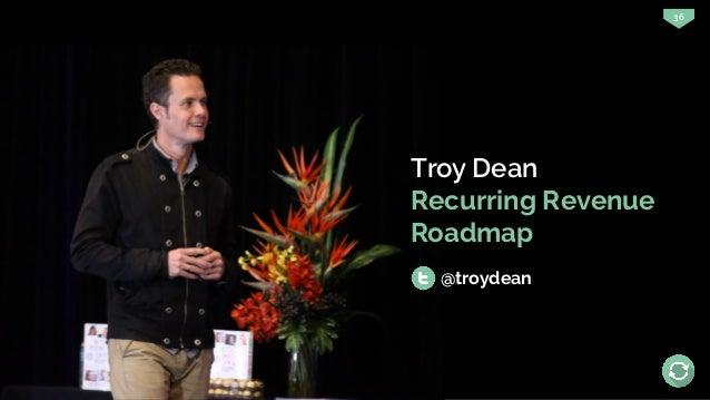 36 Troy Dean Recurring Revenue Roadmap @troydean