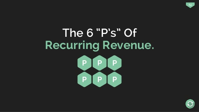 """64 The 6 """"P's"""" Of Recurring Revenue. P P P P P P"""