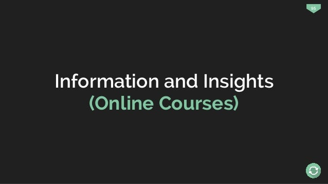 95 Information and Insights (Online Courses)