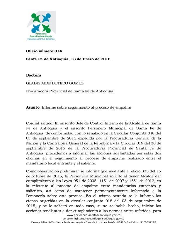www.personeriasantafedeantioquia.gov.co personeria@santafedeantioquia-antioquia.gov.co Carrera 6 No. 9-55 - Santa Fe de An...