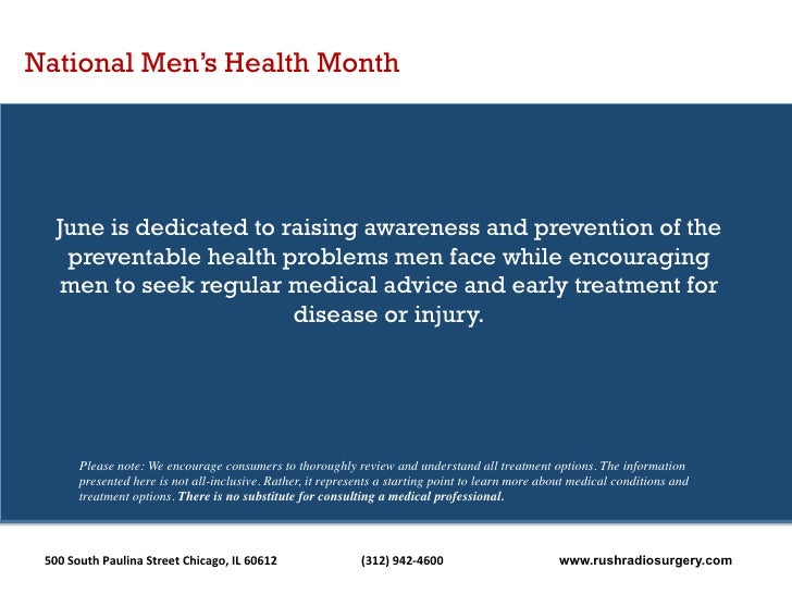 Rush Radiosurgery: June is Men's Health Month
