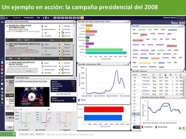 Un ejemplo en acción: la campaña presidencial del 2008<br />