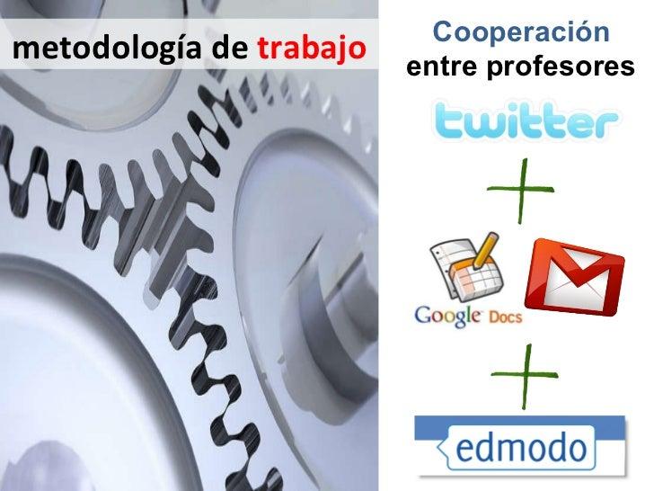 metodología de  trabajo Cooperación  entre profesores