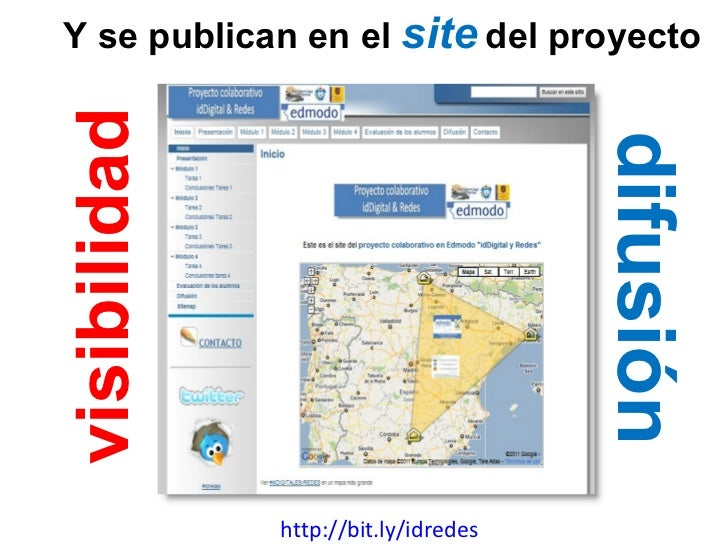 http://bit.ly/idredes Y se publican en el  site   del proyecto visibilidad difusión