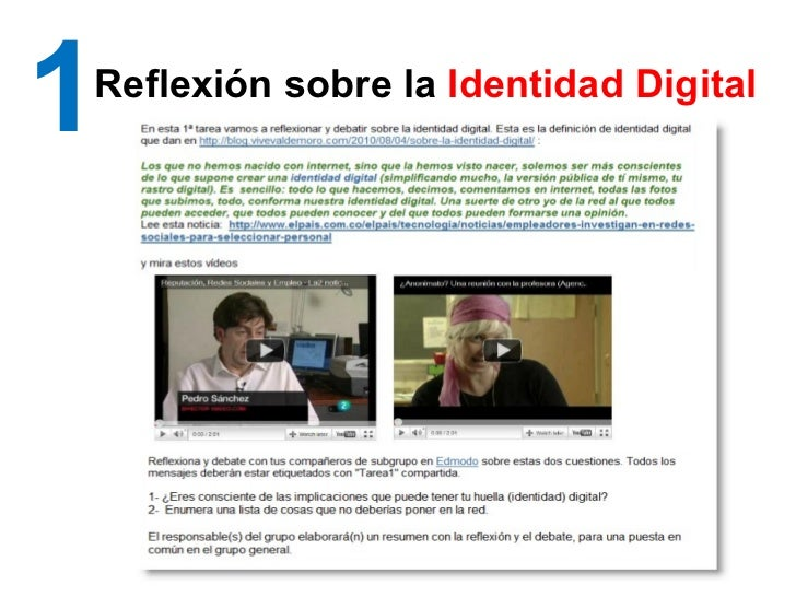 1 Reflexión sobre la  Identidad Digital
