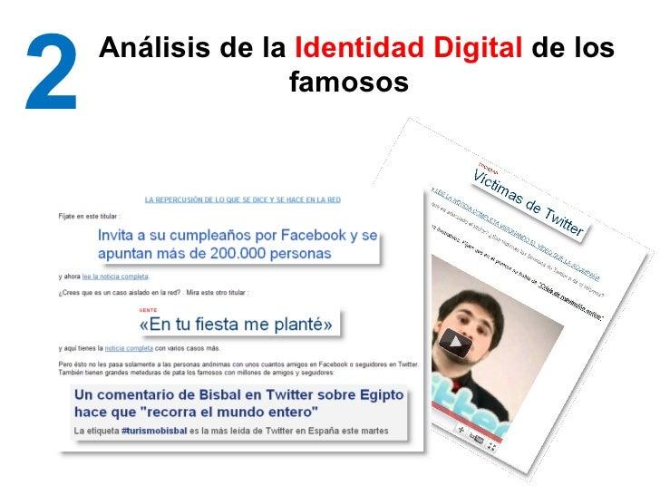 2 Análisis de la  Identidad Digital  de los famosos