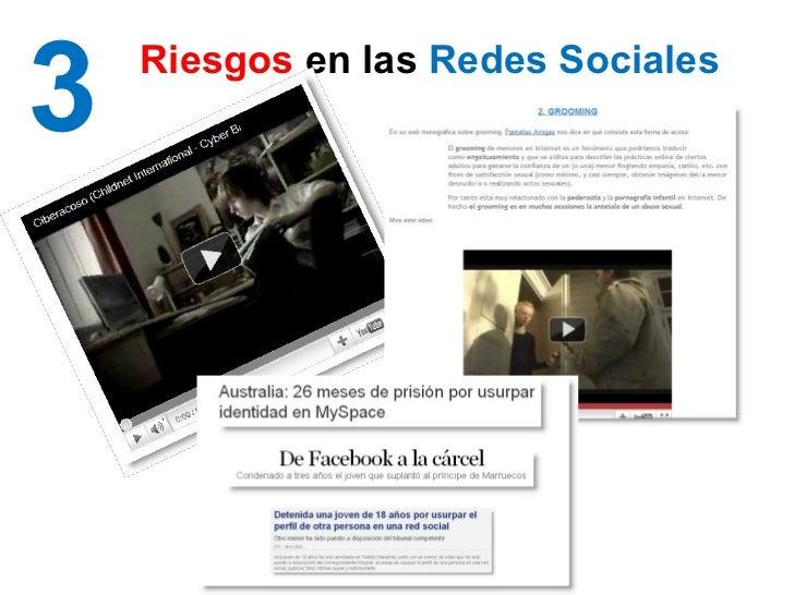 3 Riesgos  en las  Redes Sociales