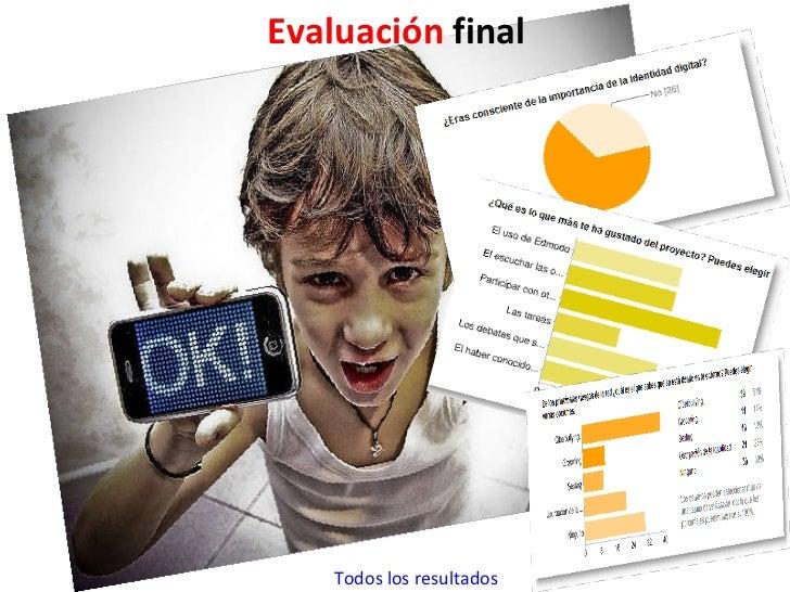 Evaluación  final Todos los resultados