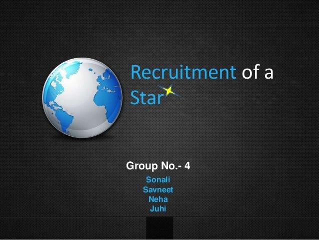 Recruitment of a Star Group No.- 4 Sonali Savneet Neha Juhi