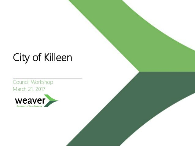City of Killeen Council Workshop March 21, 2017