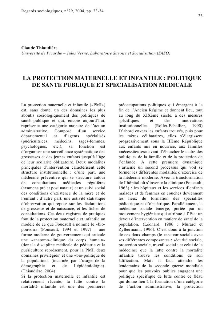 Regards sociologiques, n°29, 2004, pp. 23-34                                                                              ...
