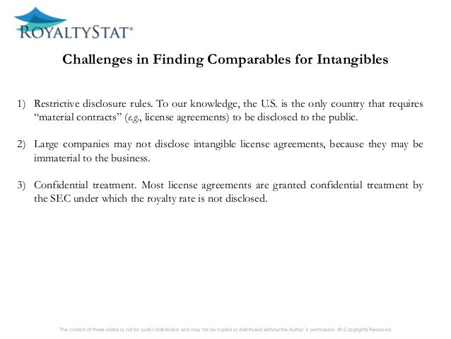1)included or not in the definition of intangibles. The content of these slides is not for public distribution and may no...