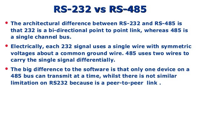 Rs232 485 fundamental