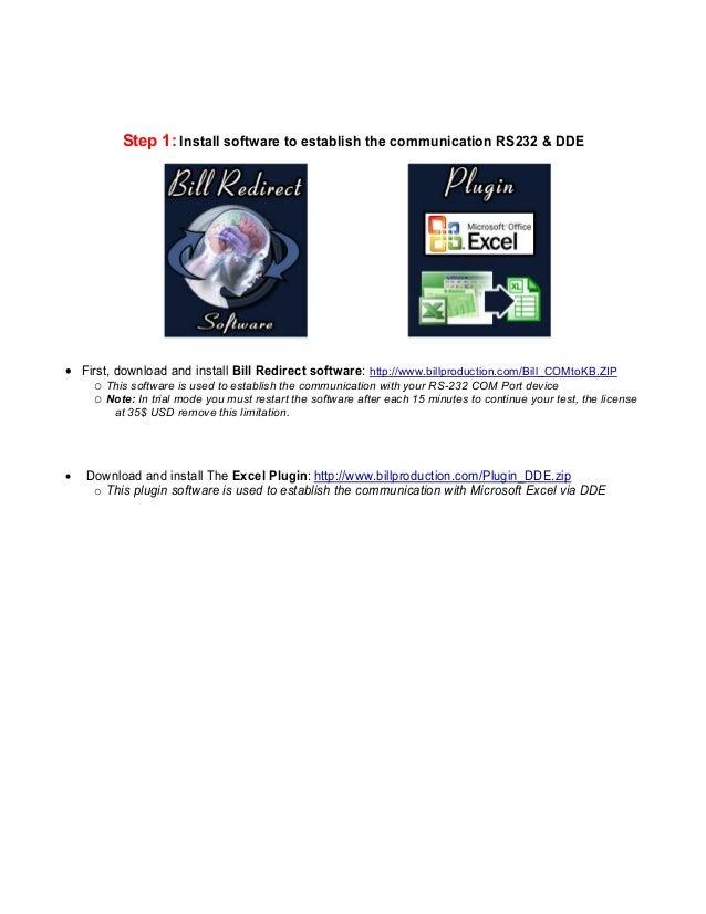 Microsoft Excel RS232 COM Port bidirectional real-time