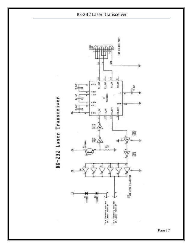 Rs232 laser transceiver