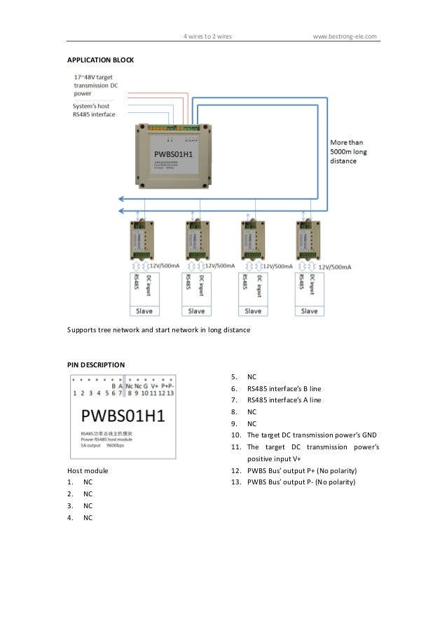 Rs485 4 Wires To 2 Wires - Free Download Wiring Diagram