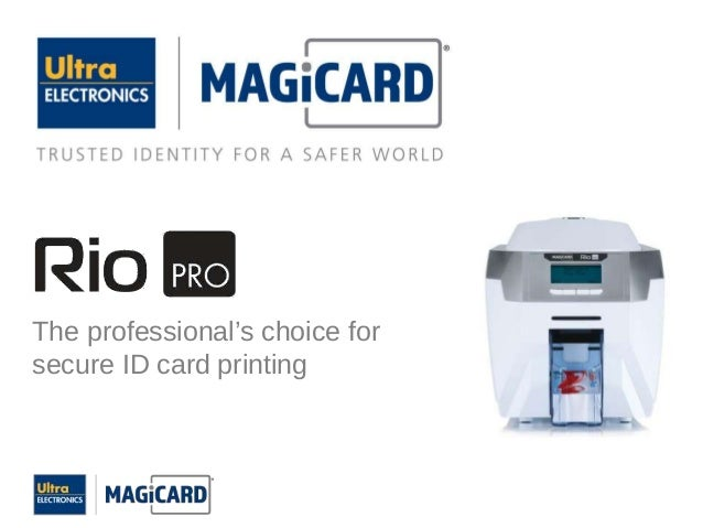 The professional's choice forsecure ID card printing
