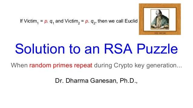 RSA cracking puzzle