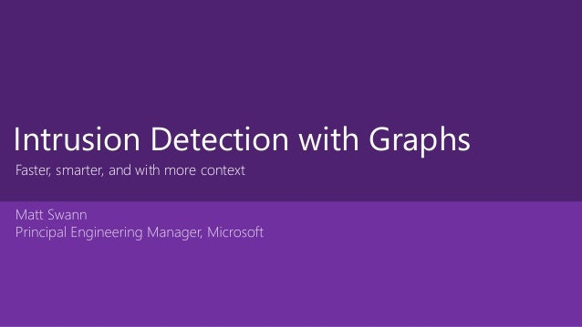 Intrusion Detection with Graphs Faster, smarter, and with more context