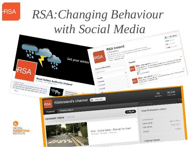 RSA:Changing Behaviour   with Social Media