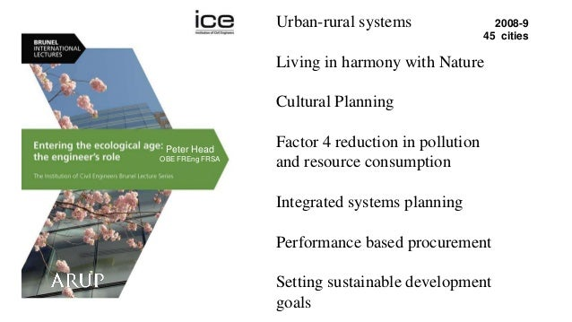 Urban-rural systems Living in harmony with Nature Cultural Planning Factor 4 reduction in pollution and resource consumpti...