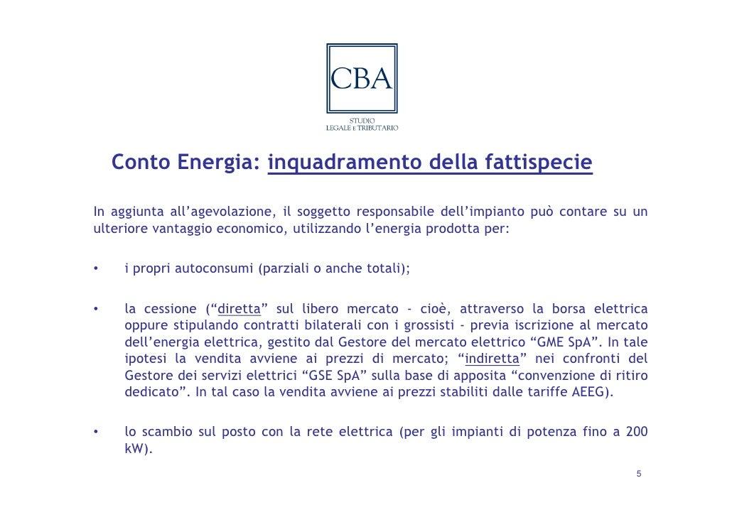 Profili fiscali del conto energia il caso dell - Detrazioni fiscali in caso di vendita immobile ...