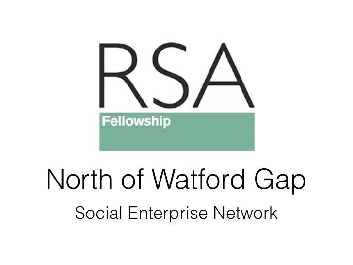 North of Watford Gap  Social Enterprise Network