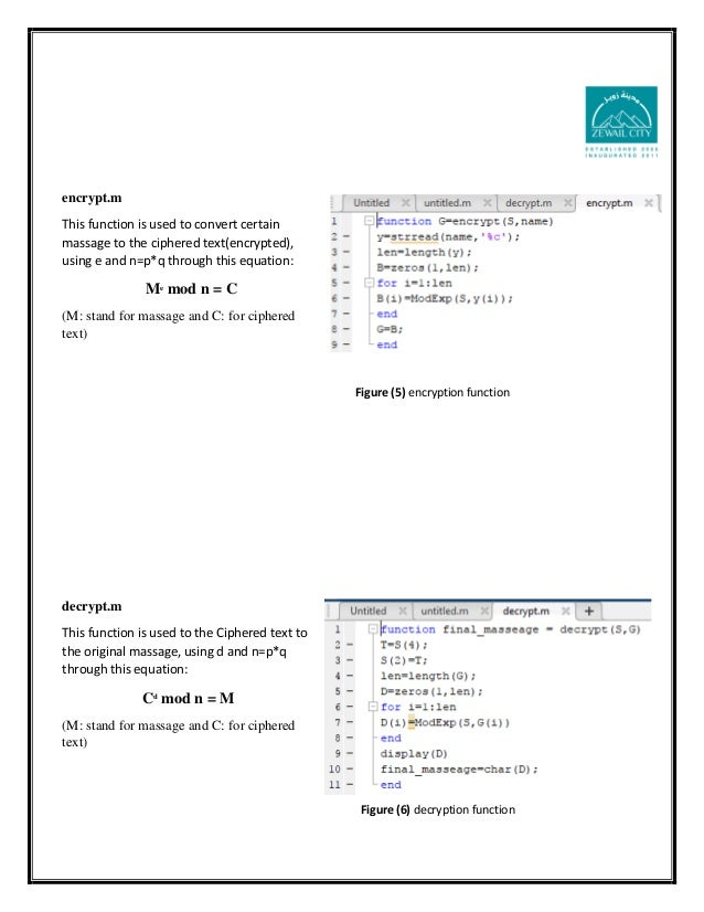 RSA Algorithm report