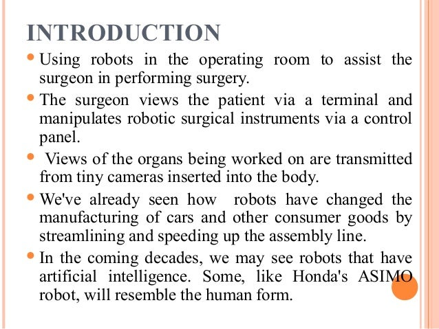 Robotic Surgery PPT