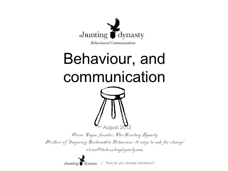 Behaviour, and         communication                          4th                             August 2012            Olive...