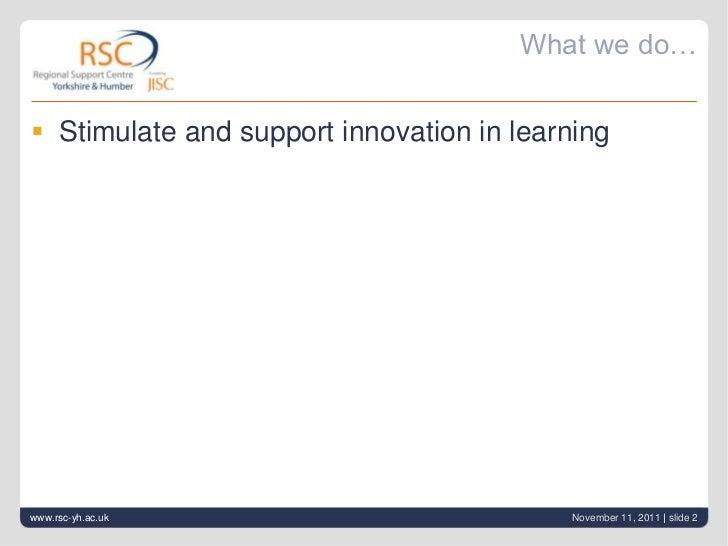 Rsc yh what we do Slide 2