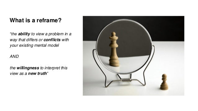 Conditions that Foster an Ability to Reframe Problems (for RSD4)