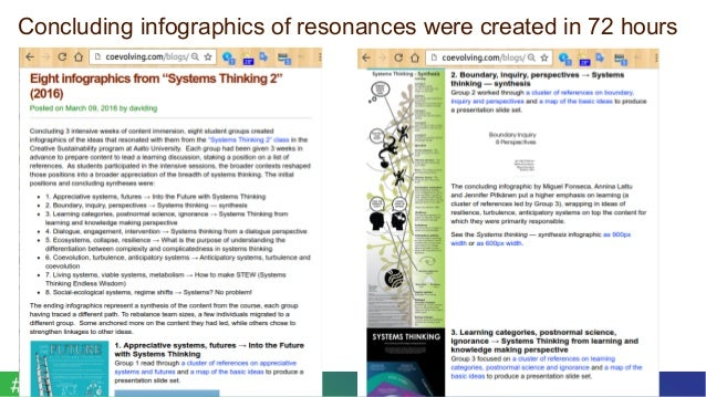 October 2016Curriculum Making for Trito Learning 9© 2016 David Ing + Susu Nousala Concluding infographics of resonances we...